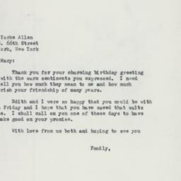 Letter: 1958 April 7