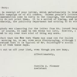 Letter : 1949 October 18
