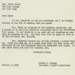 Letter: 1950 October 3