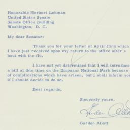 Letter : 1956 April 28
