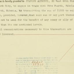 Certificate : 1919 June 9