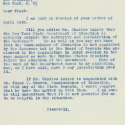 Letter: 1934 April 26