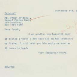 Letter: 1935 September 4