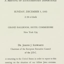 Invitation : 1943 December 5