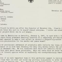 Letter : 1946 November 19