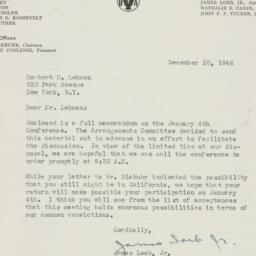 Letter : 1946 December 20