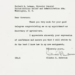 Letter : 1945 May 26