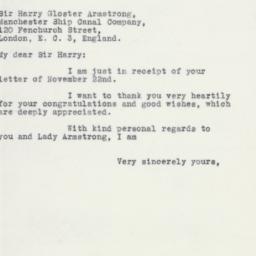 Letter : 1932 December 8