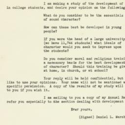 Letter : 1927 January 19