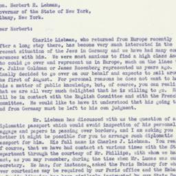 Letter : 1933 July 17