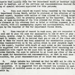 Memorandum : 1919 November 10