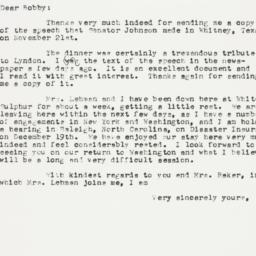 Letter: 1955 December 7