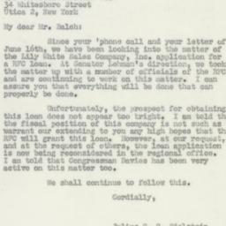 Letter : 1950 June 27