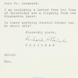 Letter: 1954 February 8