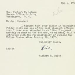 Letter: 1955 May 7