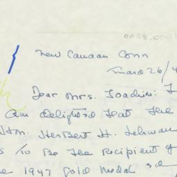 Letter : 1947 March 26