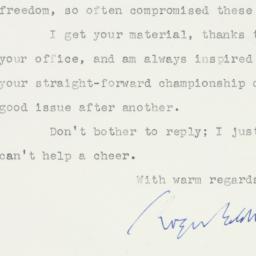 Letter : 1956 June 5