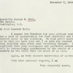 Letter : 1944 November 7