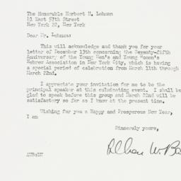 Letter : 1948 December 22