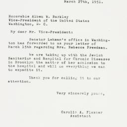 Letter: 1951 March 27