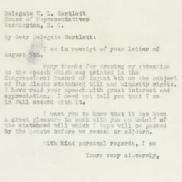 Letter : 1950 August 11