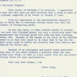 Letter: 1955 February 5