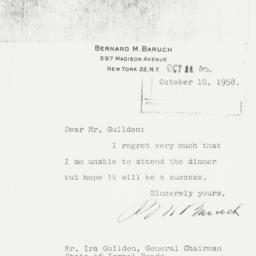 Letter : 1958 October 10