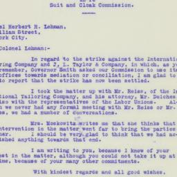 Letter : 1925 November 21