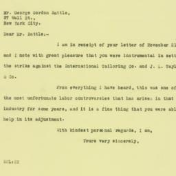 Letter: 1925 November 24