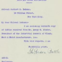 Letter: 1926 April 14