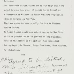 Memorandum : 1951 April 13
