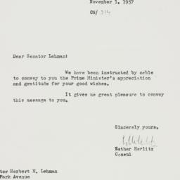 Letter : 1957 November 1