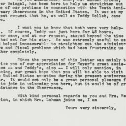 Letter : 1958 February 5
