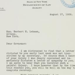 Letter: 1938 August 17