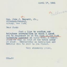 Letter: 1941 April 7
