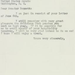 Letter : 1952 June 9