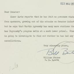 Letter: 1950 May 26