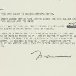 Letter: 1951 March 13