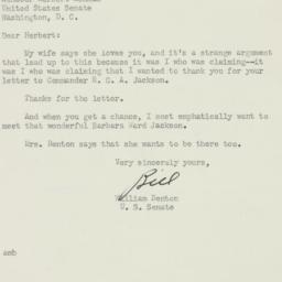 Letter: 1951 July 15