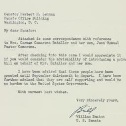 Letter: 1951 August 11
