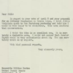 Letter: 1952 April 16