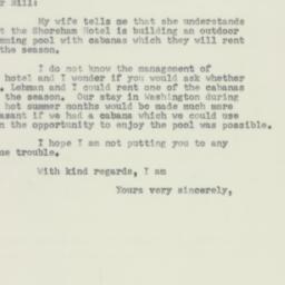 Letter: 1952 April 21