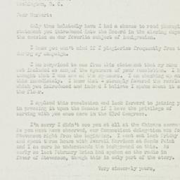 Letter: 1952 August 6