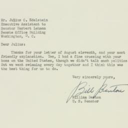Letter: 1952 August 26