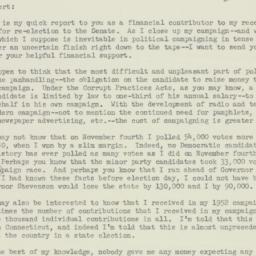 Letter: 1952 November 29