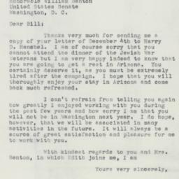 Letter: 1952 December 12