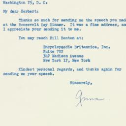 Letter: 1954 February 15