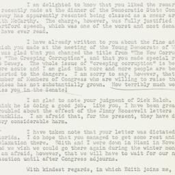 Letter: 1954 February 21