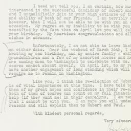 Letter: 1954 March 20