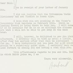 Letter: 1956 January 11